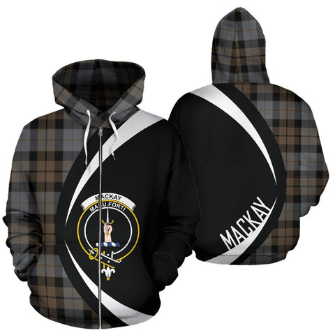 MacKay Weathered Tartan Circle Zip Hoodie HJ4