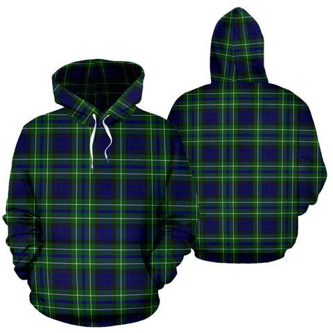 Macneil Of Colonsay Modern Tartan Hoodie, Scottish Macneil Of Colonsay Modern Plaid Pullover Hoodie