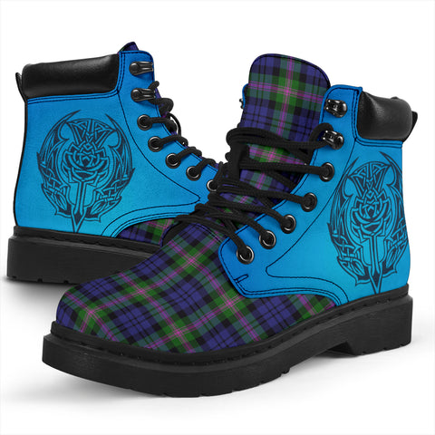 Baird Modern Tartan All-Season Boots - Celtic Thistle TH8