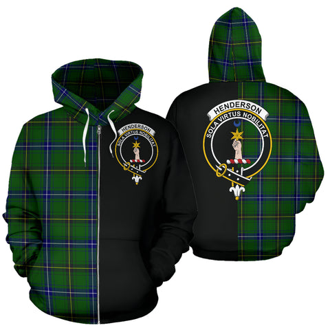 Image of Henderson Modern Tartan Hoodie Half Of Me TH8