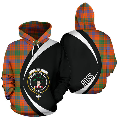 Image of Ross Ancient Tartan Circle Hoodie HJ4