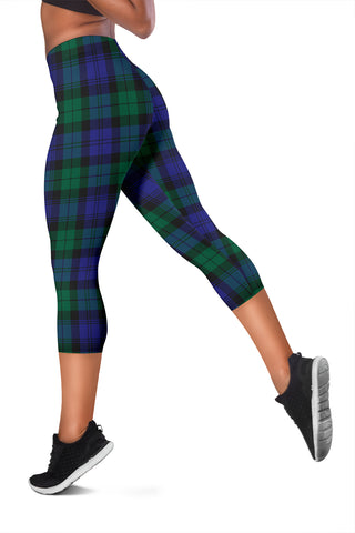 Blackwatch Modern Tartan Capris Leggings