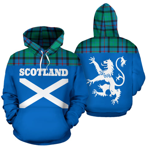 Image of Tartan All Over Hoodie - Lion Flower Of Scotland