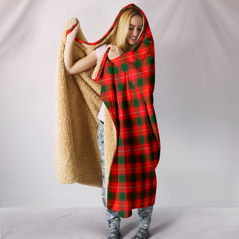 Image of MacPhee Modern, hooded blanket, tartan hooded blanket, Scots Tartan, Merry Christmas, cyber Monday, xmas, snow hooded blanket, Scotland tartan, woven blanket
