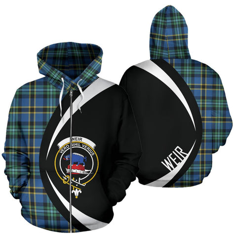 Image of Weir Ancient Tartan Circle Zip Hoodie HJ4