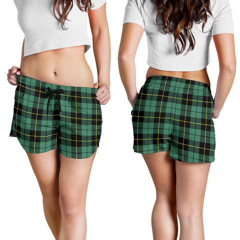 Image of Wallace Hunting Ancient Tartan Shorts For Women K7
