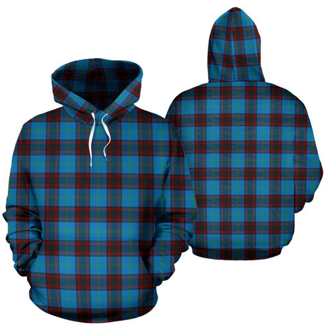 Home Ancient Tartan Hoodie, Scottish Home Ancient Plaid Pullover Hoodie