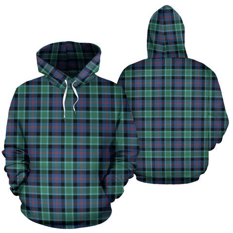 Mactaggart Ancient Tartan Hoodie, Scottish Mactaggart Ancient Plaid Pullover Hoodie
