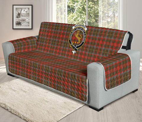 MacKintosh Hunting Weathered Tartan Clan Badge Oversized Sofa Protector K7