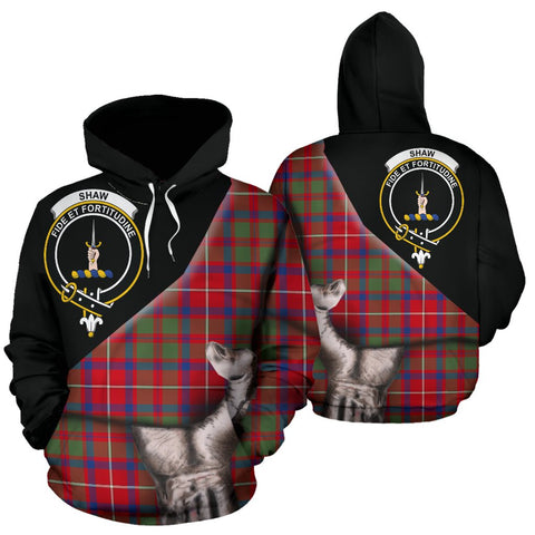 Image of Shaw Red Modern Tartan Hoodie Patronage