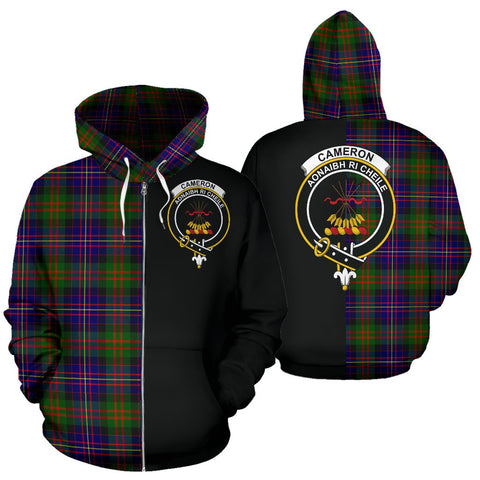 Image of (Custom your text) Cameron of Erracht Modern Tartan Hoodie Half Of Me TH8