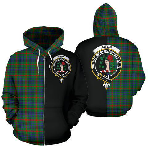 Image of Aiton Tartan Hoodie Half Of Me TH8