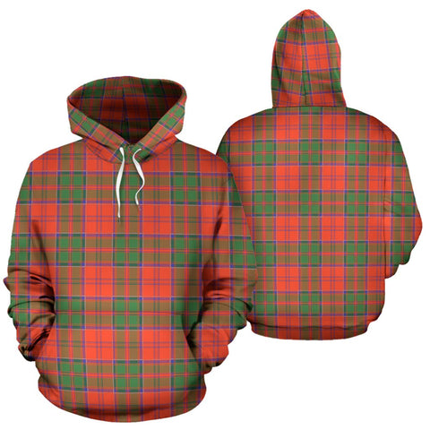 Grant Ancient Tartan Hoodie, Scottish Grant Ancient Plaid Pullover Hoodie