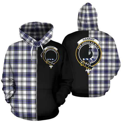 Image of Hannay Modern Tartan Hoodie Half Of Me TH8