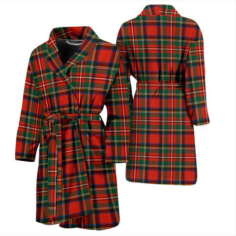 Stewart Royal Modern Tartan Mens Bathrobe - BN