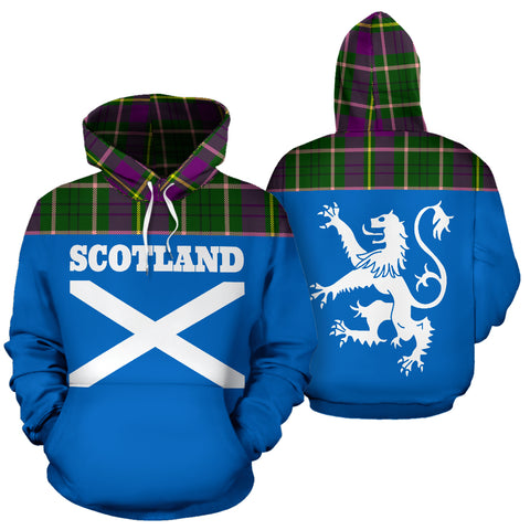Image of Tartan All Over Hoodie - Lion Taylor