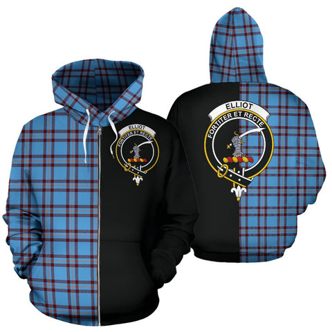 (Custom your text) Elliot Ancient Tartan Hoodie Half Of Me TH8