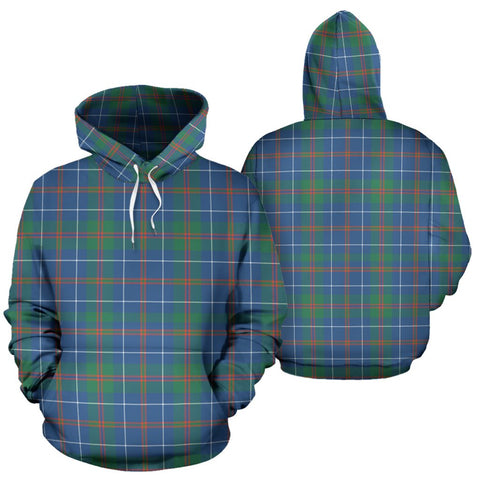Machardy Ancient Tartan Hoodie, Scottish Machardy Ancient Plaid Pullover Hoodie