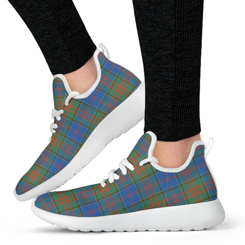 Tartan Mesh Knit Sneakers - Stewart of Appin Hunting Ancient - BN
