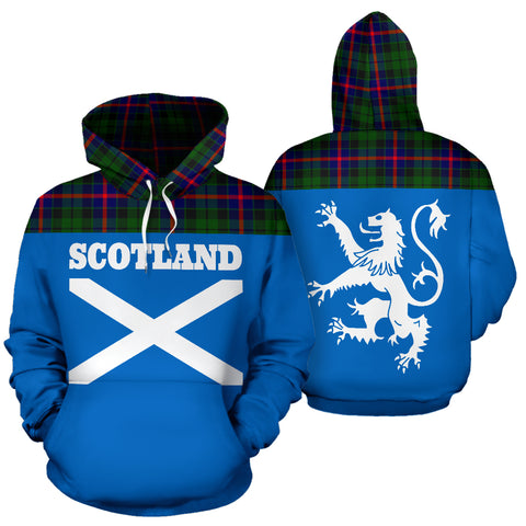 Tartan All Over Hoodie - Lion Morrison Modern