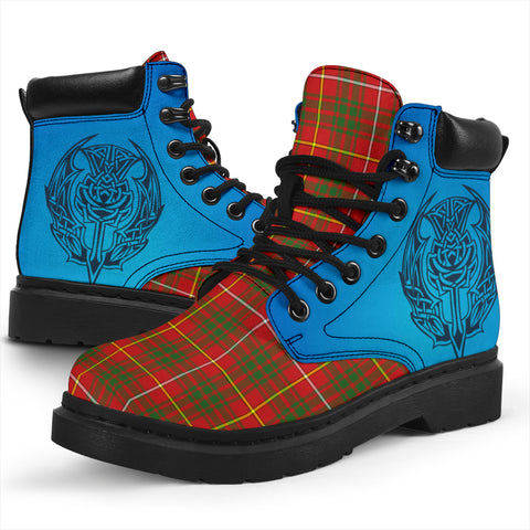Image of Bruce Modern Tartan All-Season Boots - Celtic Thistle TH8