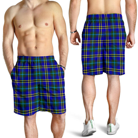 Weir Modern Tartan Shorts For Men K7