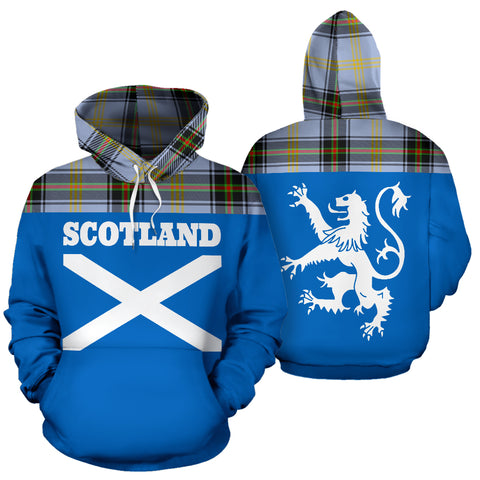 Tartan All Over Hoodie - Lion Bell of the Borders