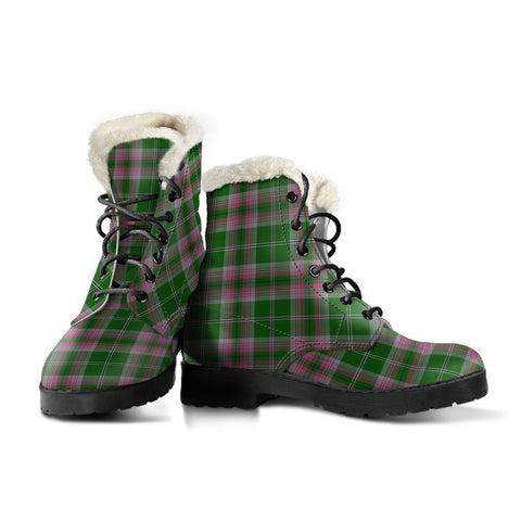 Image of Gray Hunting Tartan Boots For Women