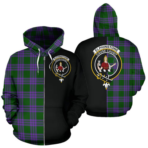 (Custom your text) Elphinstone Tartan Hoodie Half Of Me TH8