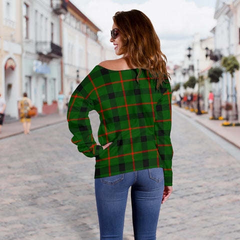 Tartan Womens Off Shoulder Sweater - Kincaid Modern - BN