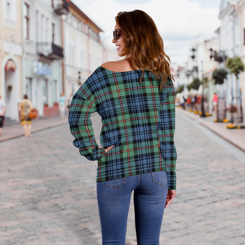 Tartan Womens Off Shoulder Sweater - MacKinlay Ancient - BN