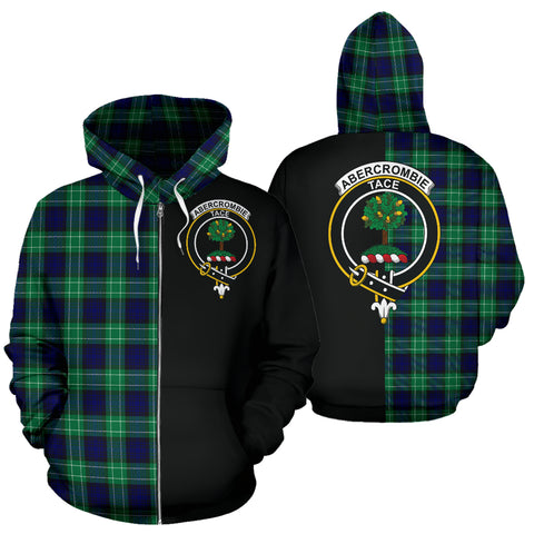 Image of Abercrombie Tartan Hoodie Half Of Me TH8
