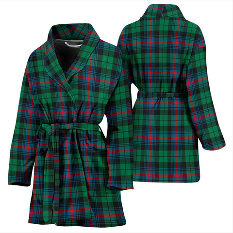 Urquhart Broad Red Ancient Tartan Womens Bathrobe - BN