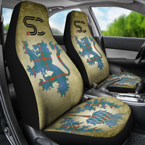 Agnew Ancient Tartan Car Seat Cover Lion and Thistle Special Style TH8