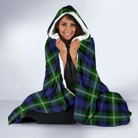 Baillie Clans Tartan Hooded Blanket - BN