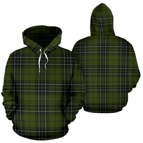 Image of Maclean Hunting Tartan Hoodie, Scottish Maclean Hunting Plaid Pullover Hoodie