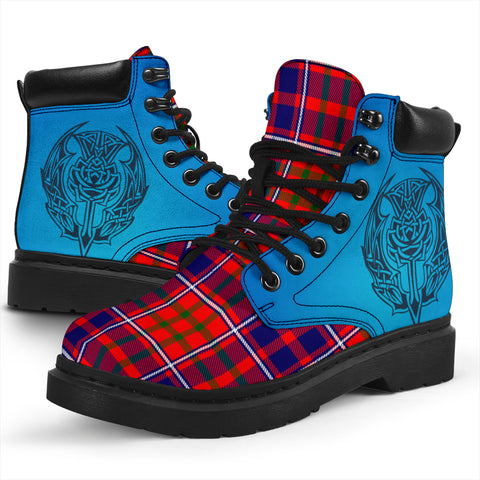 Cameron Of Lochiel Modern Tartan All-Season Boots - Celtic Thistle TH8