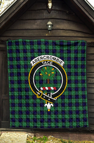 Abercrombie Tartan Clan Badge Premium Quilt TH8