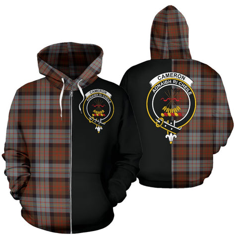 (Custom your text) Cameron of Erracht Weathered Tartan Hoodie Half Of Me TH8