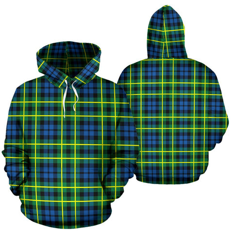 Image of Campbell Of Breadalbane Ancient Tartan Hoodie, Scottish Campbell Of Breadalbane Ancient Plaid Pullover Hoodie