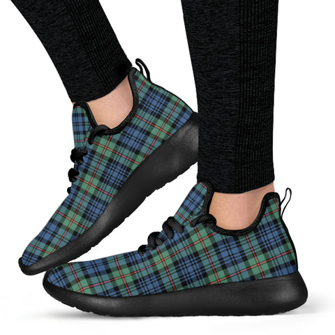 Tartan Mesh Knit Sneakers - MacKinlay Ancient