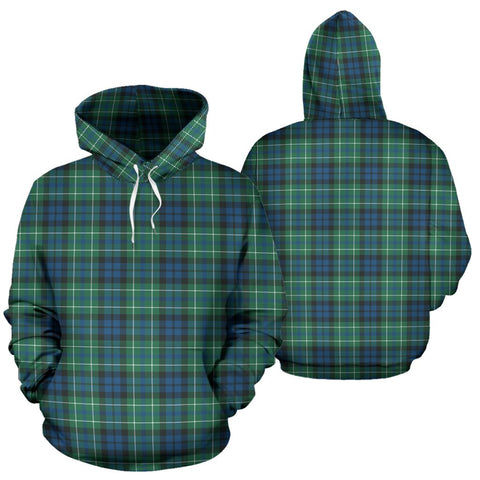 Macneill Of Colonsay Ancient Tartan Hoodie, Scottish Macneill Of Colonsay Ancient Plaid Pullover Hoodie