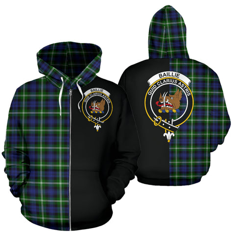 Image of Baillie Modern Tartan Hoodie Half Of Me TH8