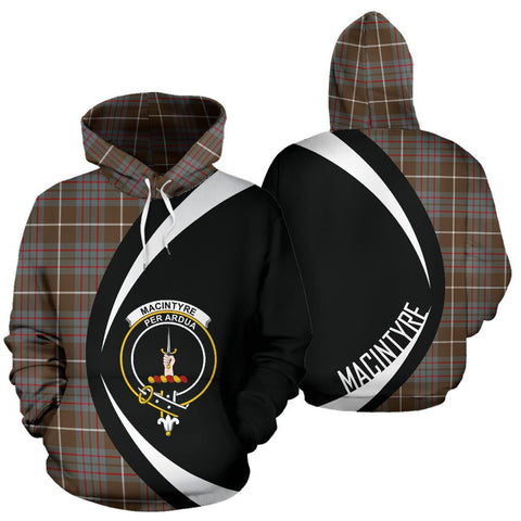 MacIntyre Hunting Weathered Tartan Circle Hoodie HJ4