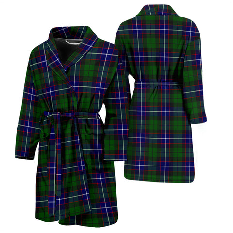 Russell Modern Tartan Mens Bathrobe - BN
