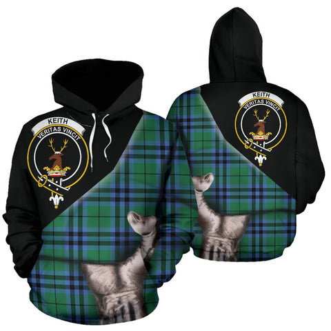 Keith Ancient Tartan Hoodie Patronage