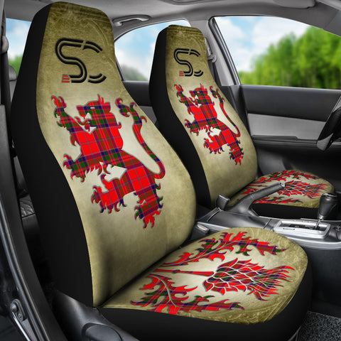 MacGillivray Modern Tartan Car Seat Cover Lion and Thistle Special Style TH8
