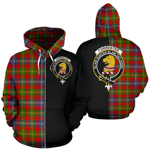(Custom your text) Forrester Tartan Hoodie Half Of Me TH8