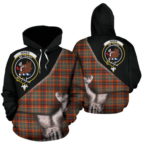Image of Innes Ancient Tartan Hoodie Patronage