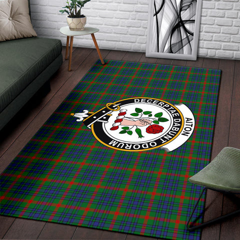 Aiton Clan Tartan Area Rug, Scottish Clans Tartan Area Rug, Scottish Rug, Scotland Area Rug